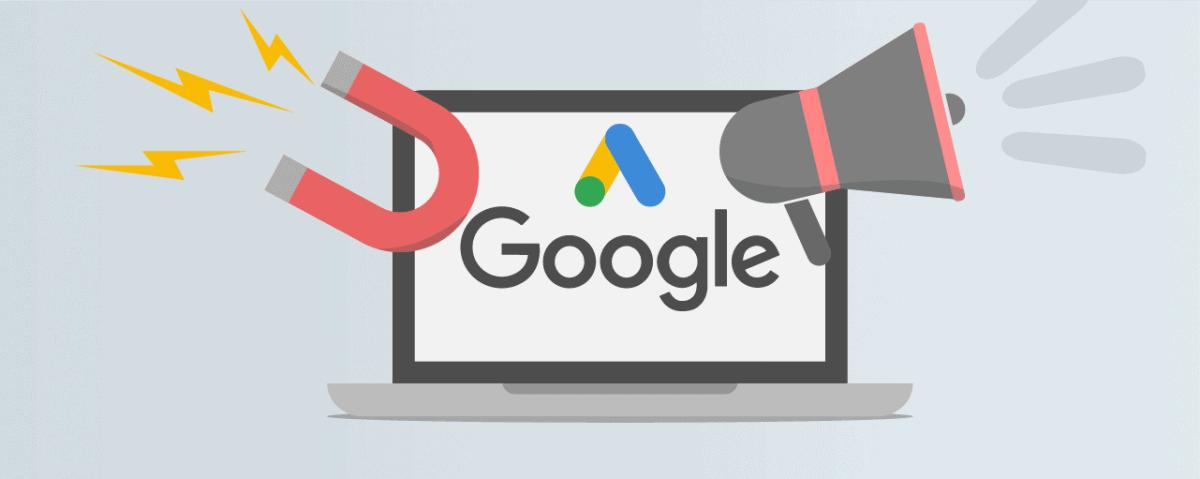 Google Ads magnet and megaphone