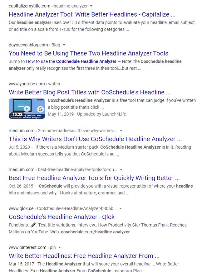 co schedule headline analyzer