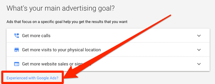 experienced-with-google-ads-button